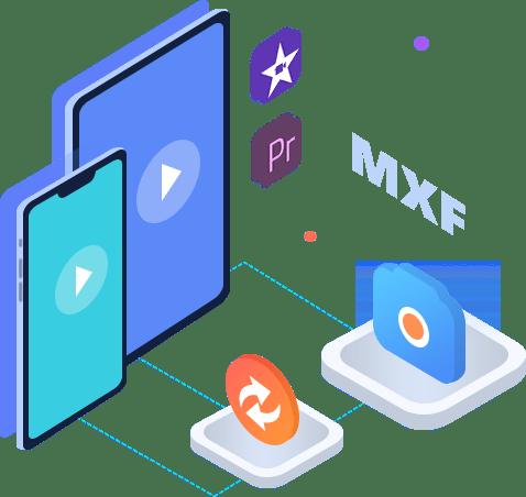 Konwertuj MXF do edycji odtwarzania