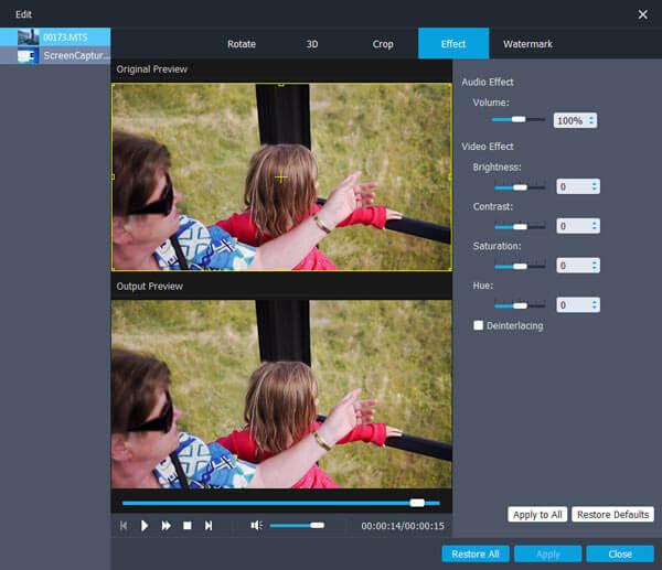Modifica video MXF