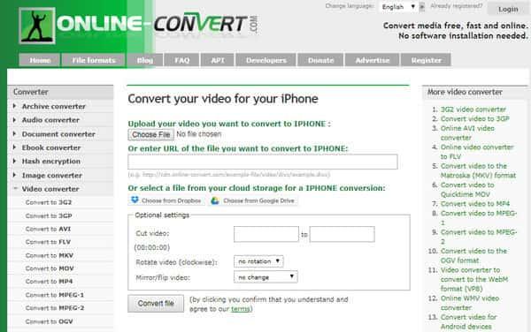 Online FLV naar iPhone