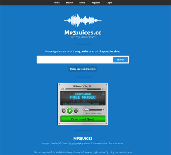 Free mp3 download sites like mp3juices/mp3skulls.