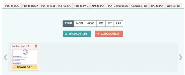 Converti PDF in ePub