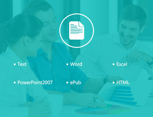 Convert PDF to Text/Word/Excel/PowerPoint2007/ePub/HTML