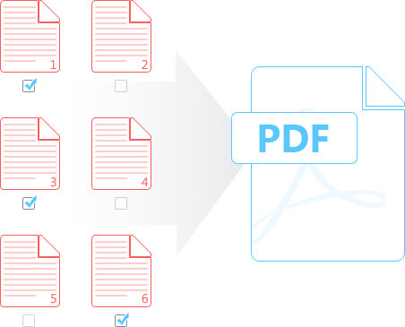 Merge several parts in a PDF file