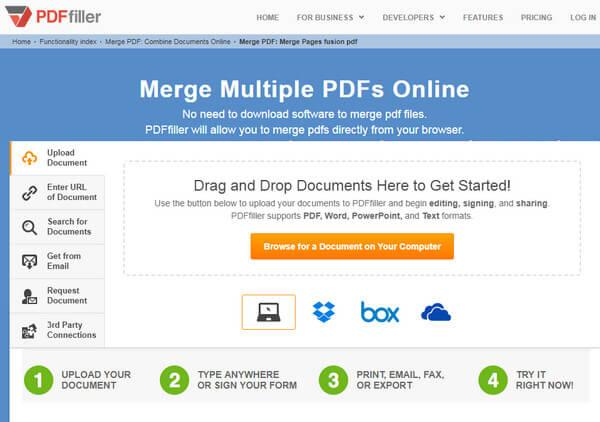Merge PDF Files with PDF Merger