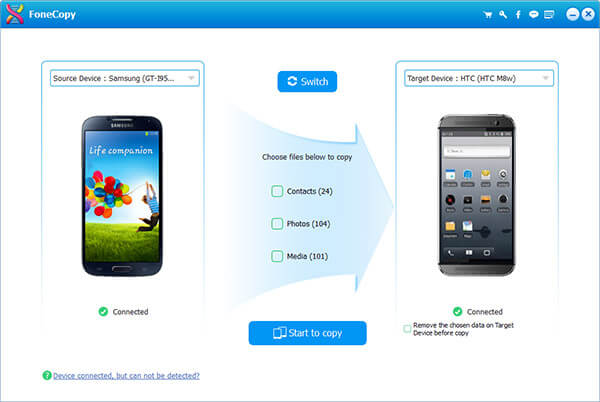 Trasferisci file da Android ad Android