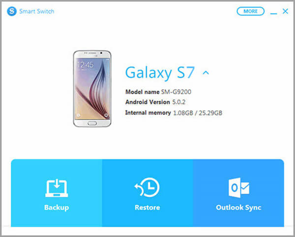 Software desktop Samsung Smart Switch