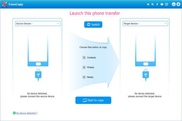 Transfer files between Android or iOS devices