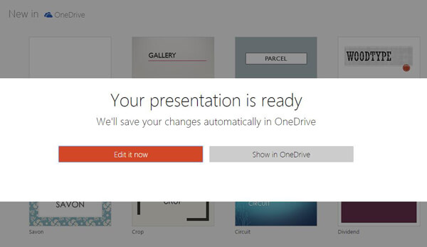 Controlla PowerPoint online