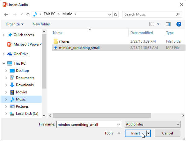 Add Music to PowerPoint 2016