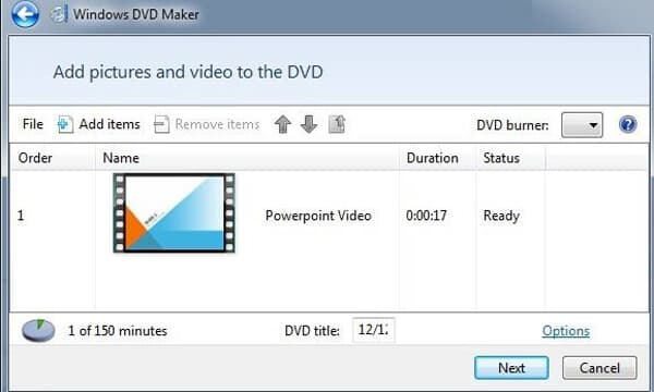 How to Burn PowerPoint to DVD