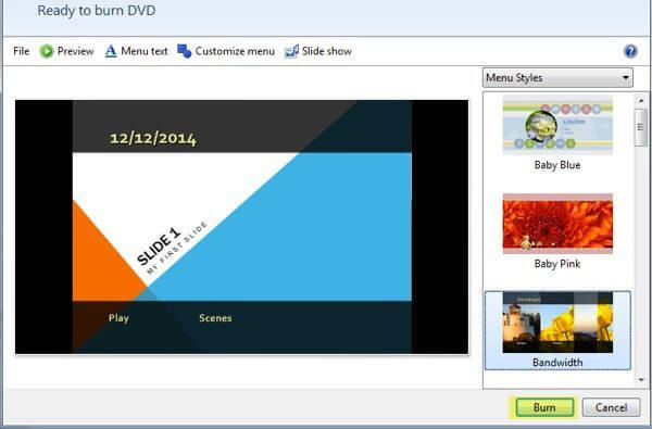Burn PowerPoint to DVD with Windows DVD Maker