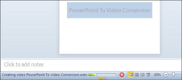 Save PowerPoint File as Video