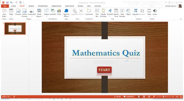 Make a quiz in powerpoint 2016201320102007 powerpoint template and button toneelgroepblik Images