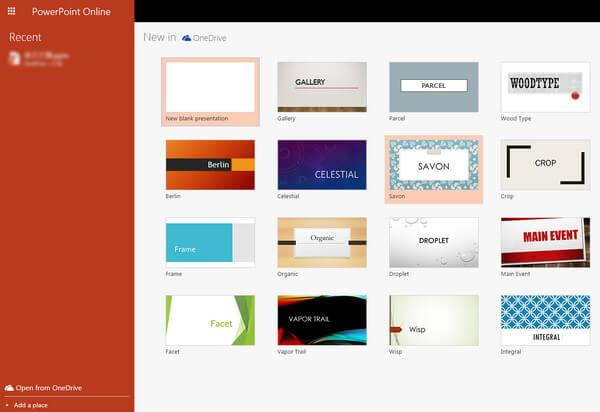 Przeglądarka PowerPoint online