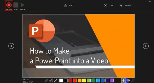 Registra con PowerPoint