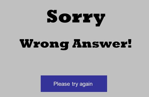 Vytvořit snímek s chybnou odpovědí