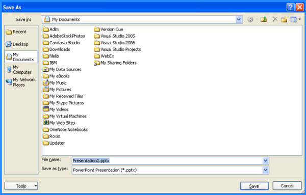 Salva PPT come file PDF