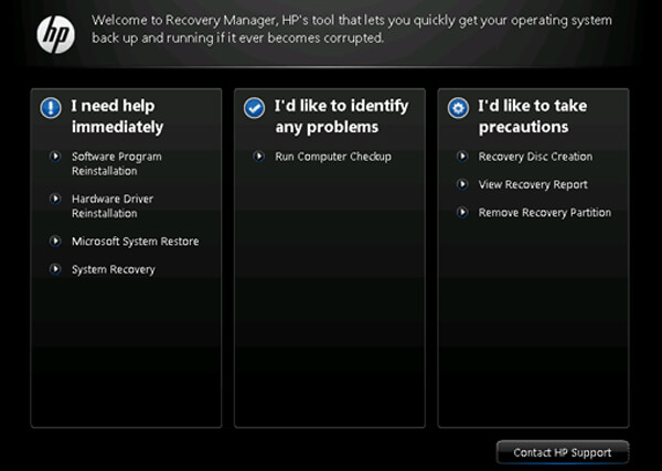 HP Recovery Manager