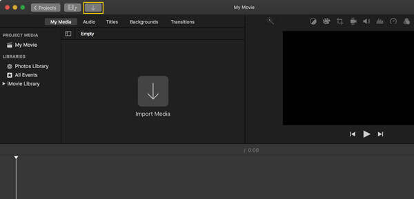 Wejście iMovie