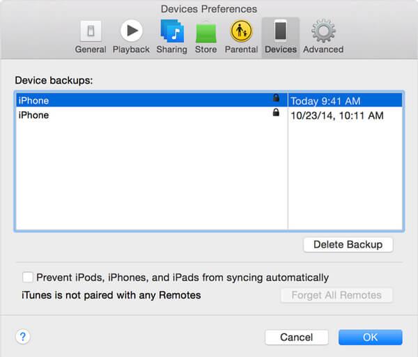 Sprawdź, czy iTunes jest zaszyfrowany