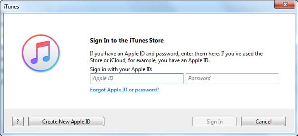 how to sign in to itunes store