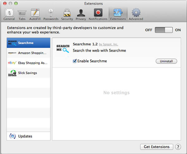 Rimuovi malware da Safari su Mac