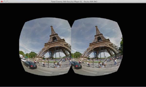 Celkový přehrávač Cinema 360 Oculus