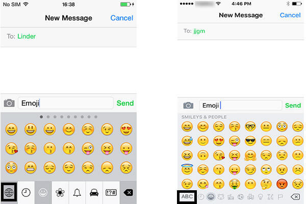 Emoji z iPhone 4 na iPhone 6
