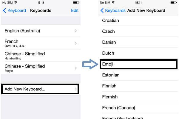 Προσθέστε το πληκτρολόγιο Emoji του iPhone