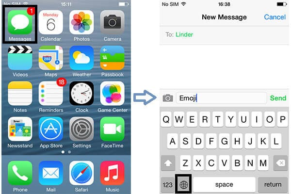 Χρησιμοποιήστε το πληκτρολόγιο Emoji του iPhone στην εφαρμογή μηνυμάτων iPhone