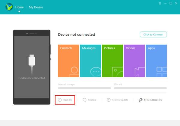 Eseguire il backup di Huawei con HiSuite