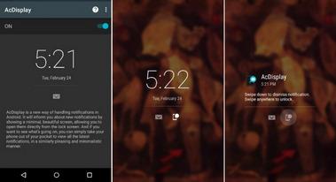 Εφαρμογές οθόνης κλειδώματος AcDisplay για Android