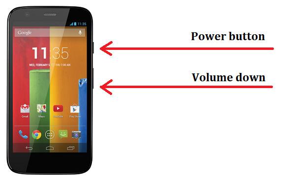 Τραβήξτε ένα στιγμιότυπο οθόνης στη Motorola