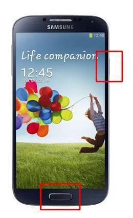 Τραβήξτε ένα στιγμιότυπο οθόνης στη Samsung με το κλειδί συσκευής