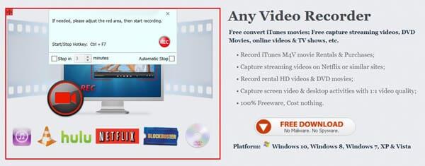 Qualsiasi interfaccia per videoregistratore