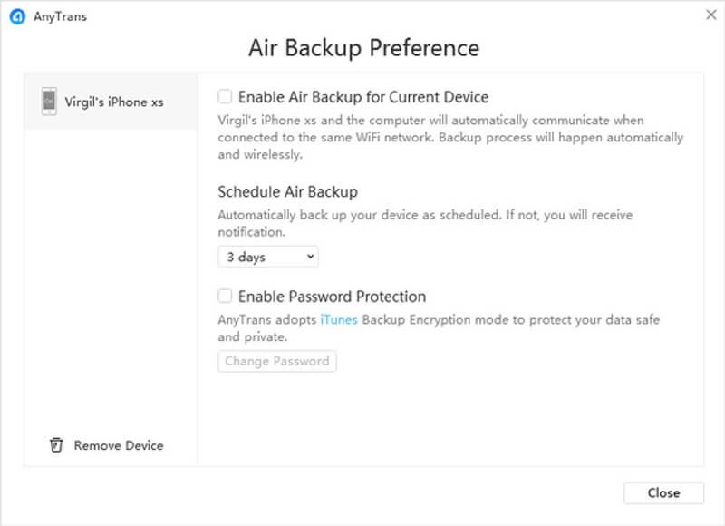 Air Backup