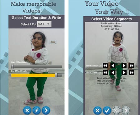 Edytor wideo Przycinanie Wytnij Dodaj tekst