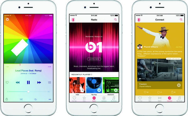 Apple Music Player na iPhonie