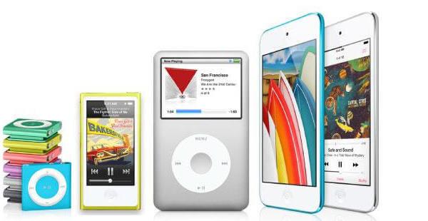 Apple Music Player su iPod