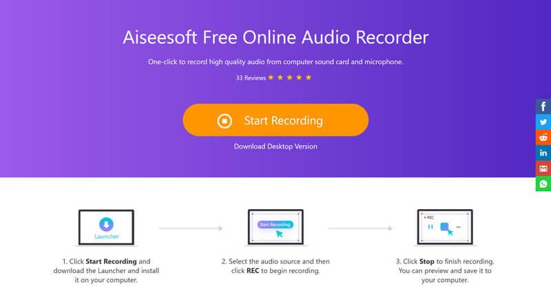 Δωρεάν εγγραφή ήχου Aiseesoft