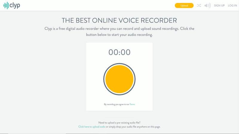 Ηλεκτρονική εγγραφή φωνής Clyp