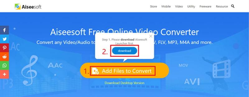 Convertitore video online gratuito