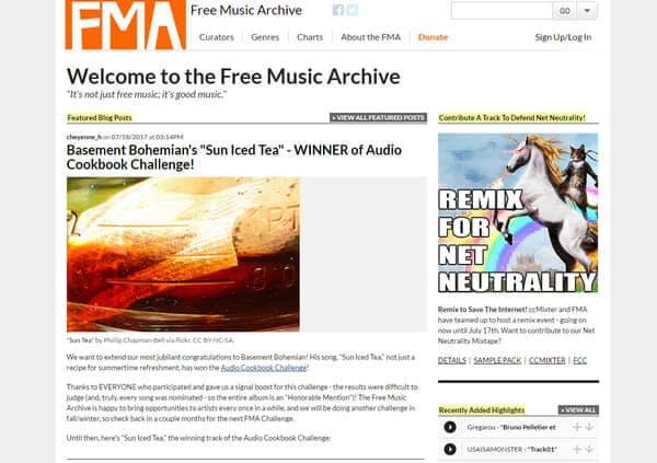 Archivio musicale gratuito