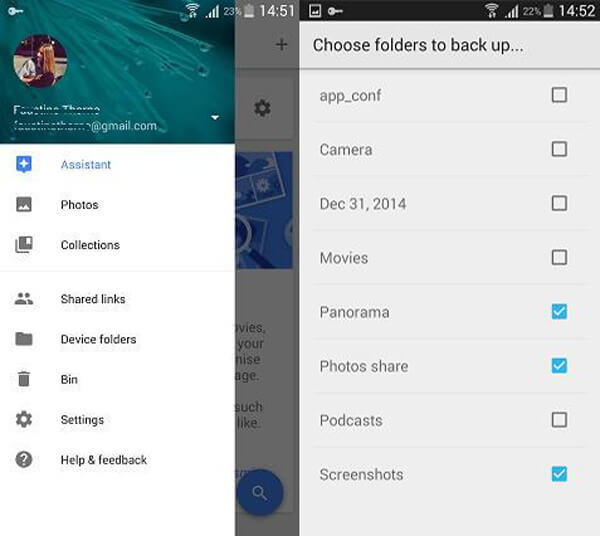 Backup Android Photos with Google+