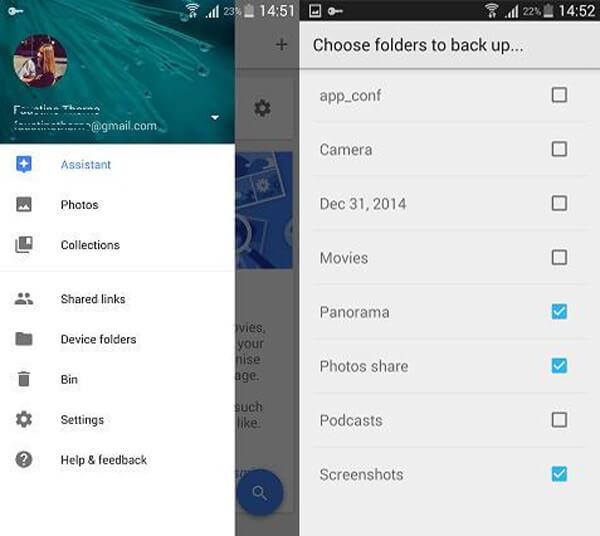 Backup di foto Android con Google+