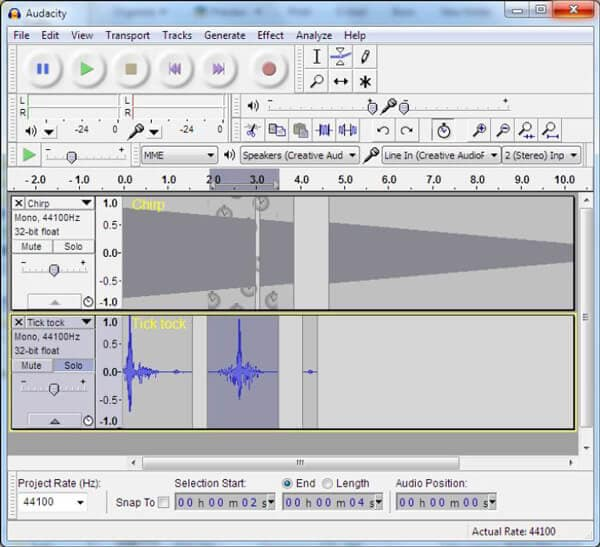 Il miglior software di editing audio - Audacity