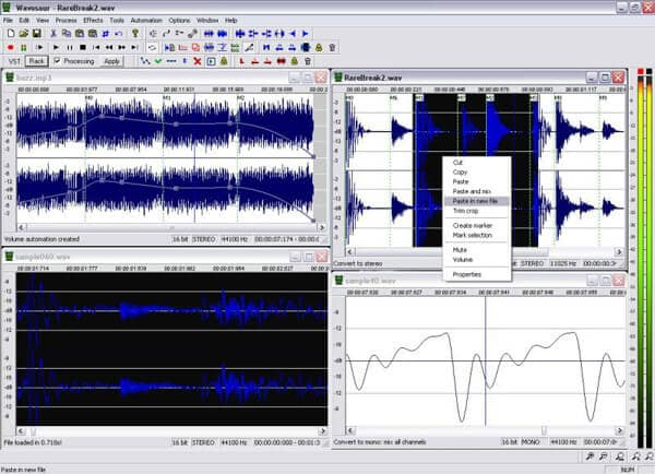 Il miglior software di editing audio - Wavosaur