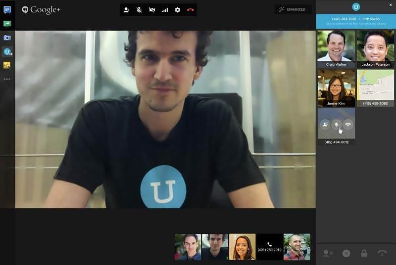 Zrzut ekranu ze spotkania
