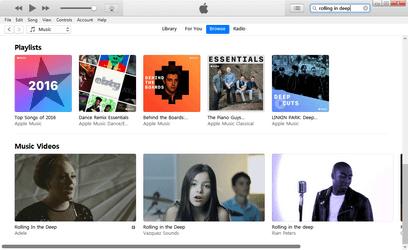 Διοργανωτής μουσικής iTunes