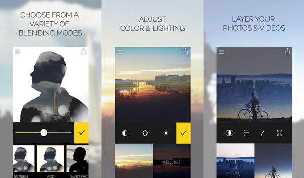Nejlepší aplikace pro úpravy fotografií pro iPhone - sloučená